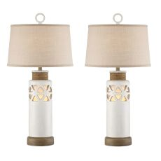 Cove Bay Antique White Rope Night Light Table Lamp (Set Of 2)