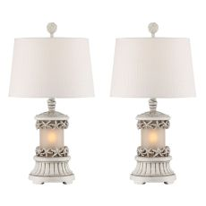 Antique White Starfish Night Light Table Lamp (Set Of 2)