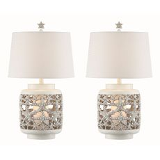 Starfish Night Light Table Lamp (Set Of 2)