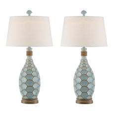 Glacier Blue Eden Isle Rope Table Lamp (Set Of 2)