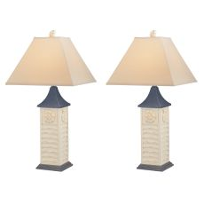 Antique Nautilus Shell Table Lamp (Set Of 2)