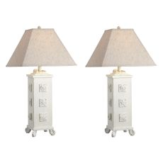 Shell Cottage White Table Lamp (Set Of 2)