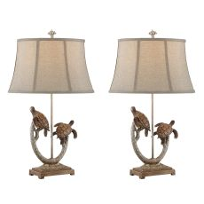 Twin Turtle Branch Table Lamp (Set Of 2)