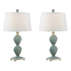 Double Clam Shell Table Lamp (Set Of 2)