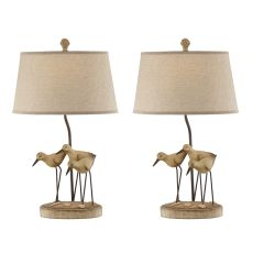 Sand Trio Shore Birds Table Lamps (Set Of 2)