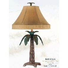 Antique Carved Palm Tree Lamp
