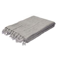 """Gray Linen Throw (51""""X67"""")"""
