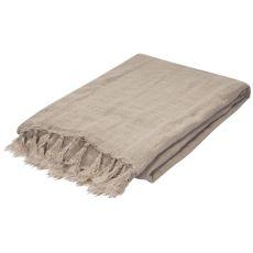 """Natural Linen Throw (51""""X67"""")"""