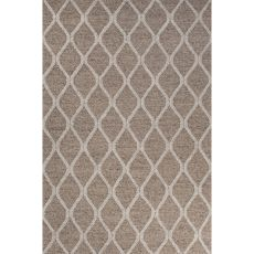Contemporary Tribal Pattern Beige/Ivory Wool And Art Silk Area Rug (8X11)