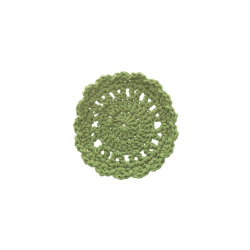 "Mode Crochet 5"" Round Coaster, Sage"