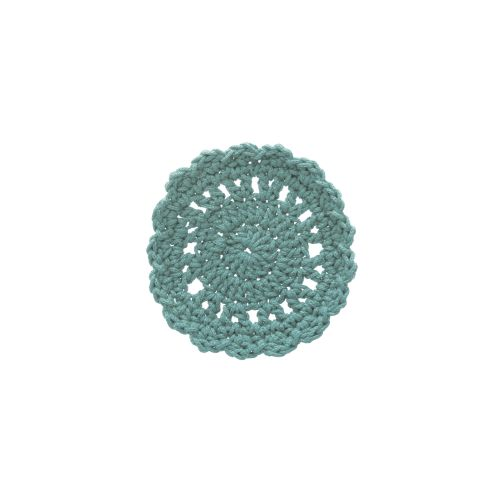 "Mode Crochet 5"" Round Coaster, Sea Spray"
