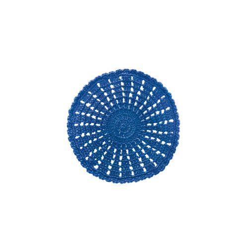 """Mode Crochet 10"""" Round Doily, Cobalt Blue"""