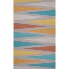 Flatweave Tribal Pattern Gray/Blue Cotton Area Rug (8X11)