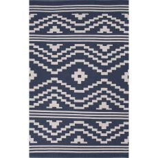 Tribal Pattern Cotton Traditions Made Modern Cotton Flat Weave Area Rug