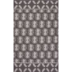 Flatweave Tribal Pattern Gray/Ivory Cotton Area Rug (8X11)