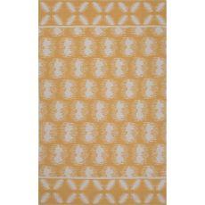 Flatweave Tribal Pattern Yellow/Ivory Cotton Area Rug (8X11)