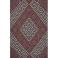 Flatweave Tribal Pattern Pink/Red Cotton Area Rug (8X11)