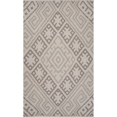 Flatweave Tribal Pattern Gray Cotton Area Rug (8X11)