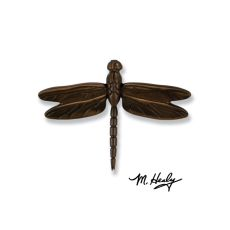 Dragonfly in Flight Door Knocker, Oiled Bronze (Premium)