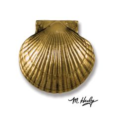 Sea Scallop Door Knocker, Brass (Premium)