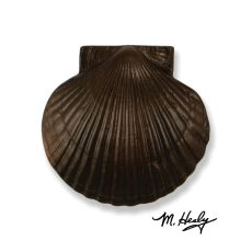 Sea Scallop Door Knocker, Oiled Bronze (Premium)