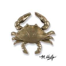 Blue Crab Door Knocker, Nickel Silver (Premium)