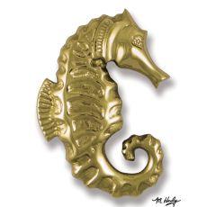 Seahorse Door Knocker, Brass (Premium)