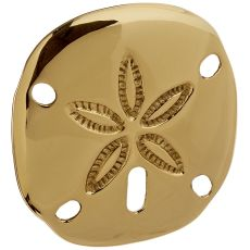 Sand Dollar Door Knocker, Brass (Premium)