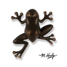 Tree Frog Door Knocker, Oiled Bronze (Premium)