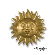 Smiling Sunface Door Knocker, Brass (Premium)