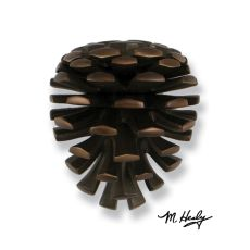 Pinecone Door Knocker, Oiled Bronze (Premium)