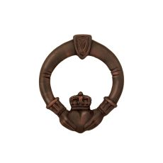 Claddagh Door Knocker, Oiled Bronze (Premium)