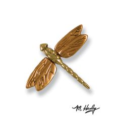 Dragonfly in Flight Doorbell Ringer, Brass/Bronze