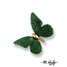 Monarch Butterfly Doorbell Ringer, Brass/Green Patina