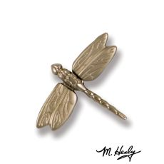 Dragonfly in Flight Doorbell Ringer, Nickel Silver