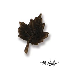Maple Leaf Doorbell Ringer, Oiled Bronze