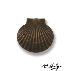 Bay Scallop Doorbell Ringer, Oiled Bronze