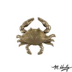 Blue Crab Door Knocker, Nickel Silver (Standard)