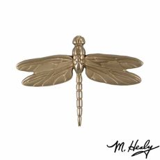 Dragonfly in Flight Door Knocker, Nickel Silver (Standard)