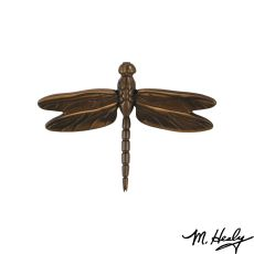 Dragonfly in Flight Door Knocker, Oiled Bronze (Standard)