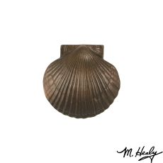 Sea Scallop Door Knocker, Oiled Bronze (Standard)