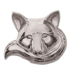 Fox Door Knocker, Nickel Silver (Standard)