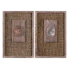 Uttermost Endicott Petrified Wood Panels Set/2