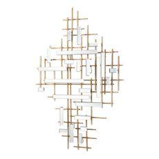 Uttermost Apollo Gold & Mirrored Wall Art