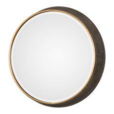 Uttermost Sturdivant Antiqued Gold Round Mirror