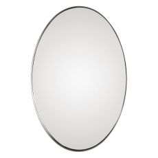 Uttermost Pursley Brushed Nickel Oval Mirror