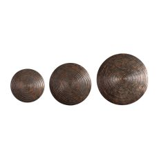 Uttermost Hanneli Ribbed Bronze Circles S/3