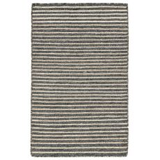 "Liora Manne Mojave Pencil Stripe Indoor/Outdoor Rug - Grey, 24"" By 36"""