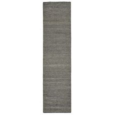 "Liora Manne Mojave Pencil Stripe Indoor/Outdoor Rug - Grey, 24"" By 8'"