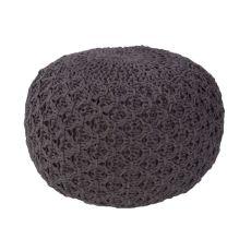 """Dark Gray Cotton Pouf (20""""X20""""X14"""")"""